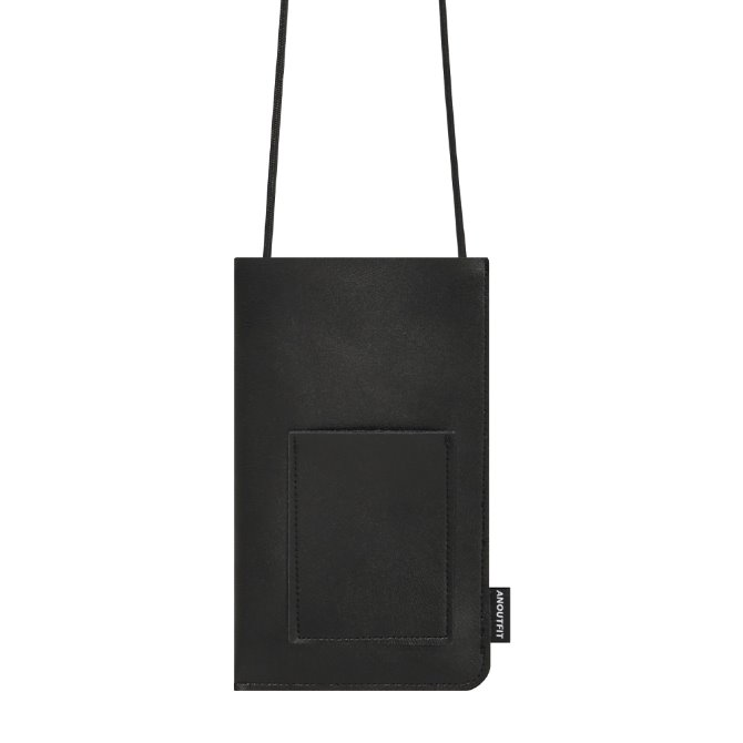 UNISEX MINI LEATHER BAG BLACK